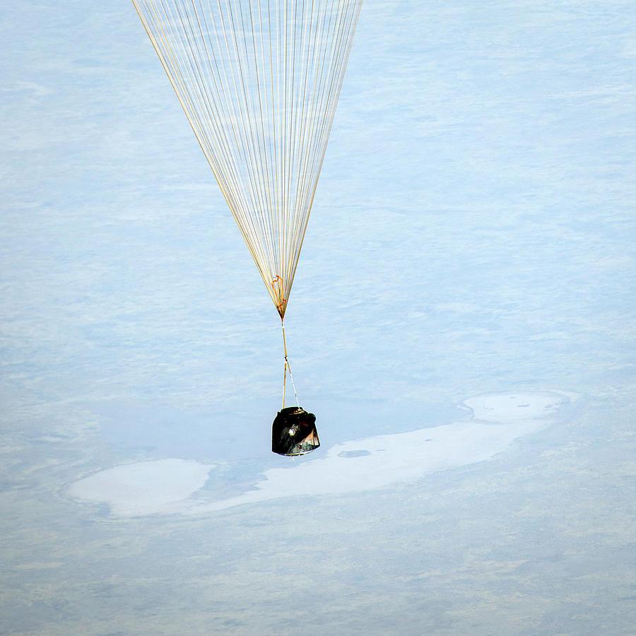 11 September Photograph - Soyuz Tma-08m Descent Module Landing by Nasa/bill Ingalls