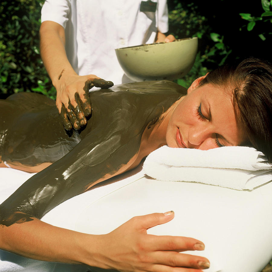 Spa skin mud treatment  Photograph by Novastock