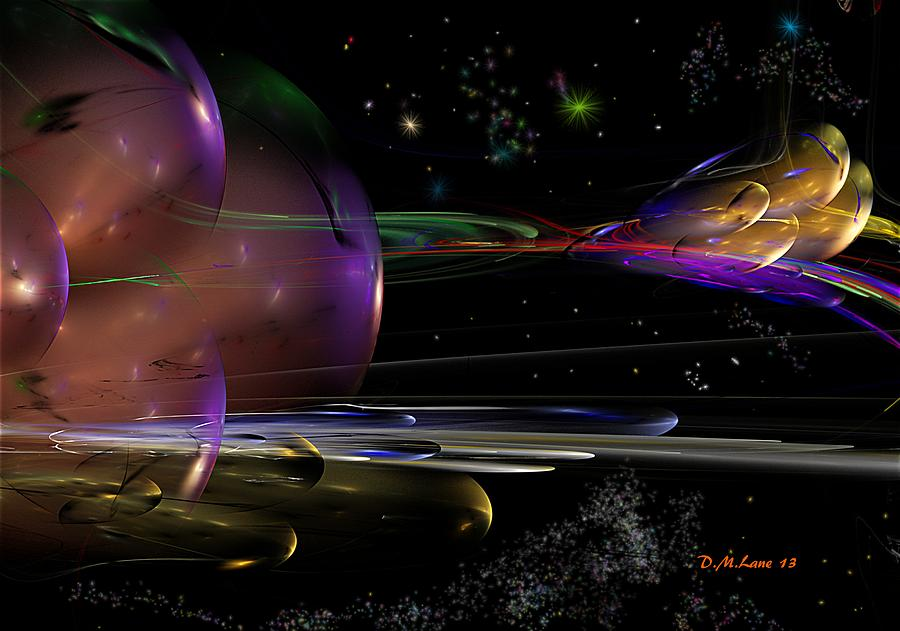 Abstract Digital Art - Space Abstraction by David Lane
