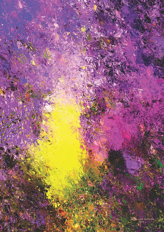 Poster Painting - Space Out by Jessie J De La Portillo