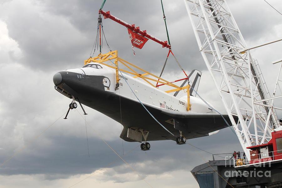 Space Digital Art - Space Shuttle Enterprise by Steven Spak