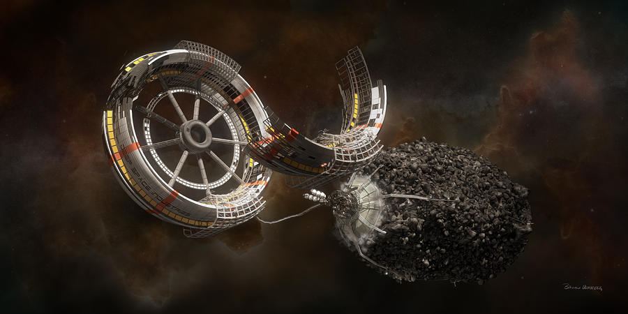 Space Station Construction Digital Art - Space Station Construction by Bryan Versteeg