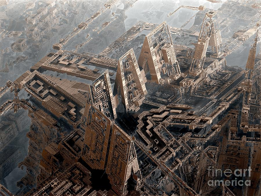 Fractal Art Digital Art - Spaceport by Bernard MICHEL