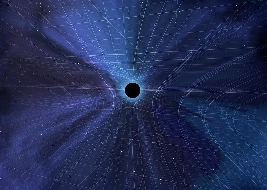 3d Photograph - Spacetime Warped By A Black Hole by Mark Garlick