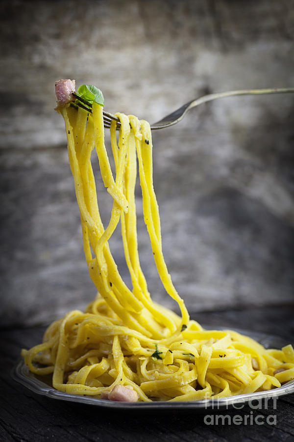 Background Photograph - Spaghetti Carbonara by Mythja  Photography