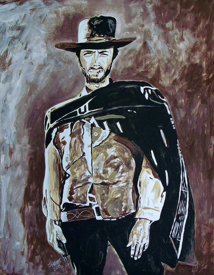 Clint Painting - Spaghetti Western by Jeremy Moore