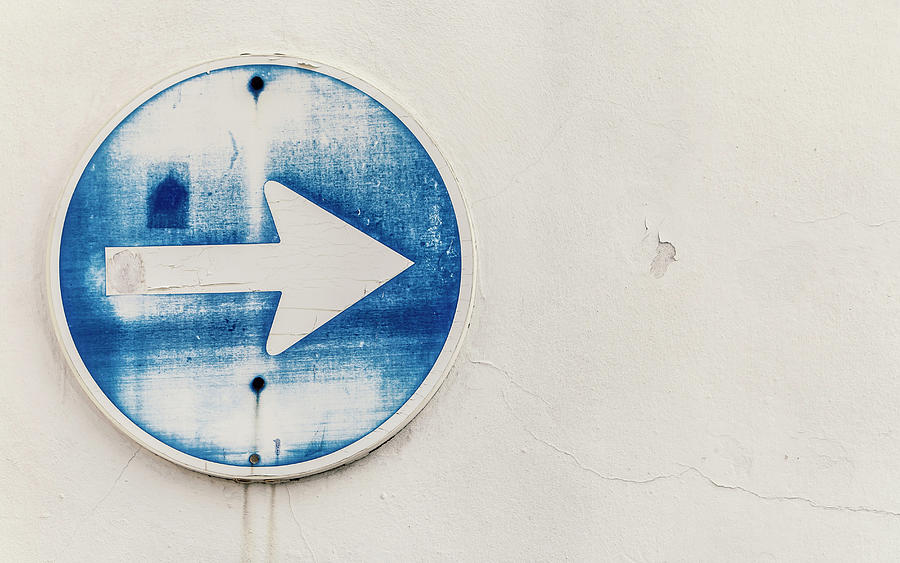 Spain, Arrow Sign, Close Up Photograph by Westend61