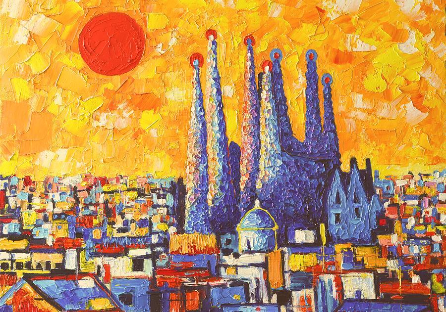 Back to Ana Maria Edulescu | Wall Art / Paintings / Sagrada PaintingsAcrylic Paintings Sunset