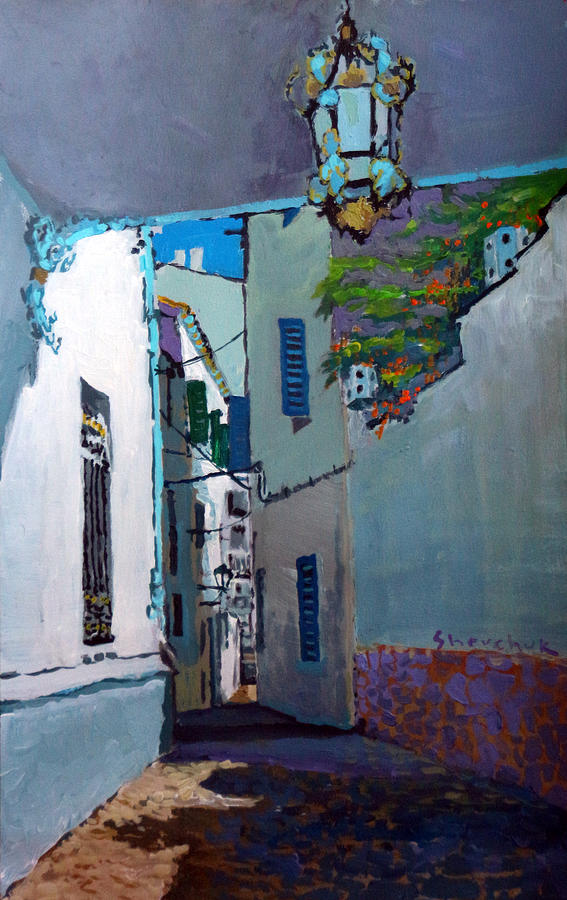 Acrilic Painting - Spain Series 09 Cadaques by Yuriy Shevchuk