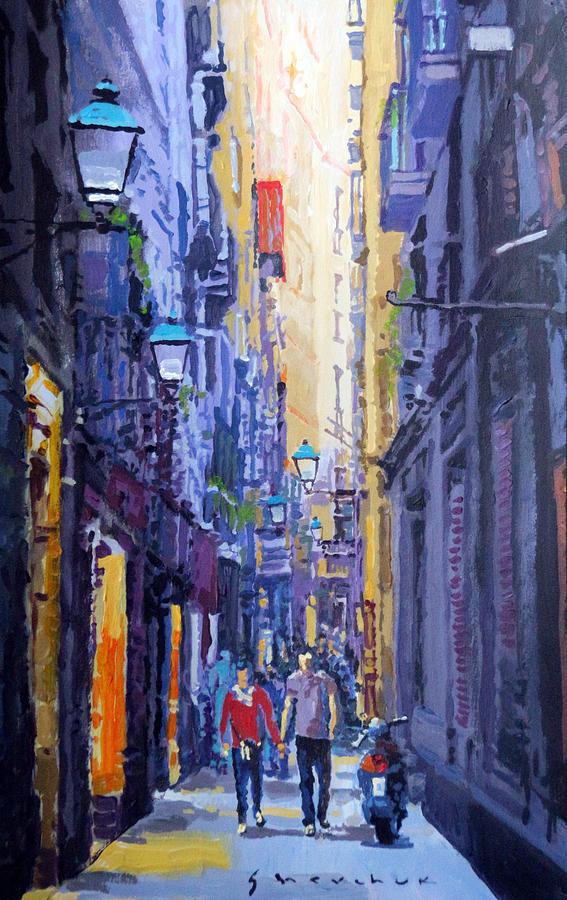 Acrilic Painting - Spain Series 10 Barcelona by Yuriy Shevchuk