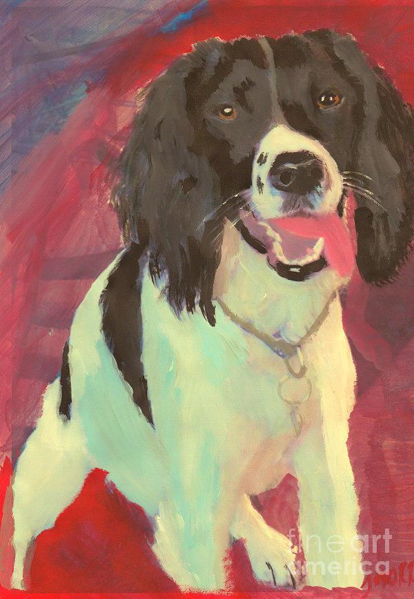 Dog Painting - Spaniel  by John Morris