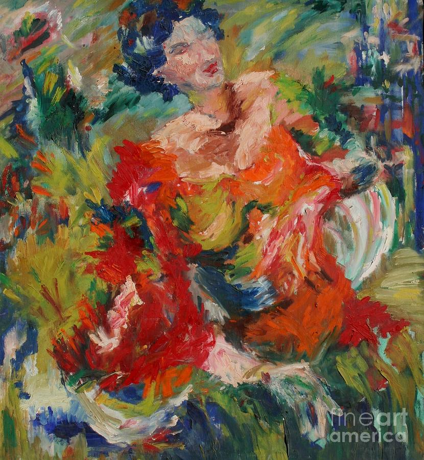 Dance Painting - Spanish Dancer by Avonelle Kelsey