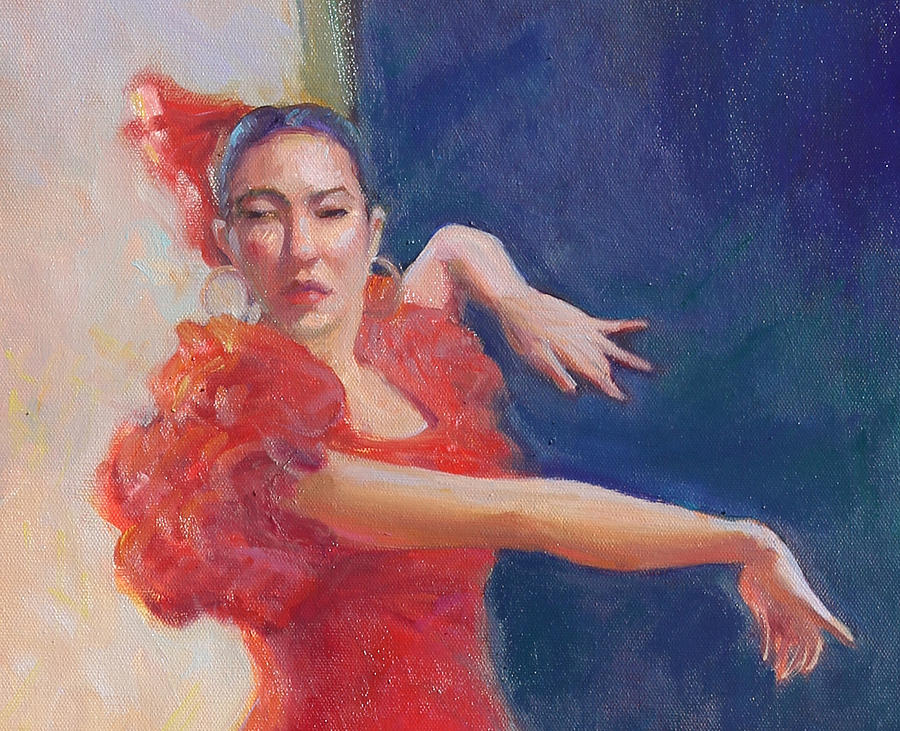 Famenco Dancing Painting - Spanish Eyes by Gwen Carroll