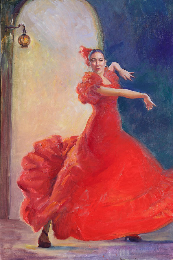 Flamenco Dancer Painting - Spanish Flame by Gwen Carroll