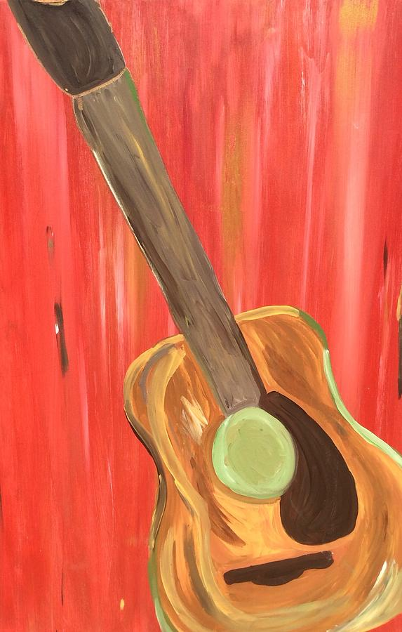 Spanish Guitar Painting By Karen Mosley