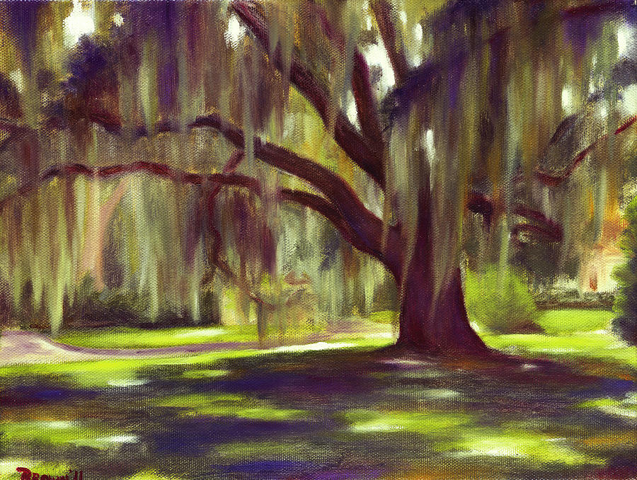 Landscape Painting - Spanish Moss by Seaton Brown