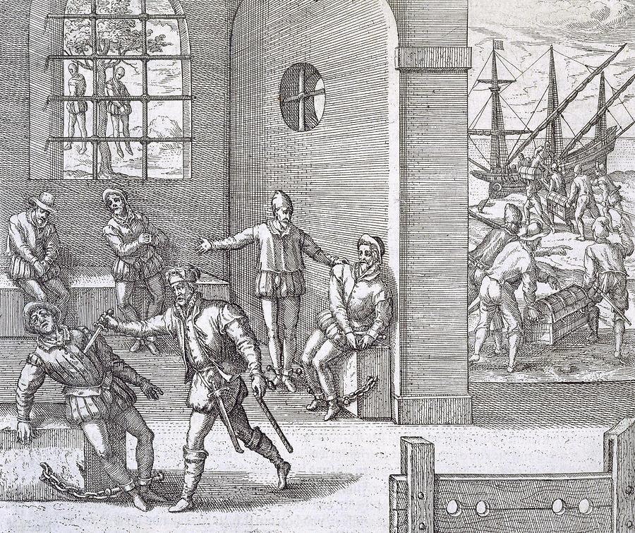 Theodore De Bry Painting - Spanish Traitors In Panama by Theodore De Bry