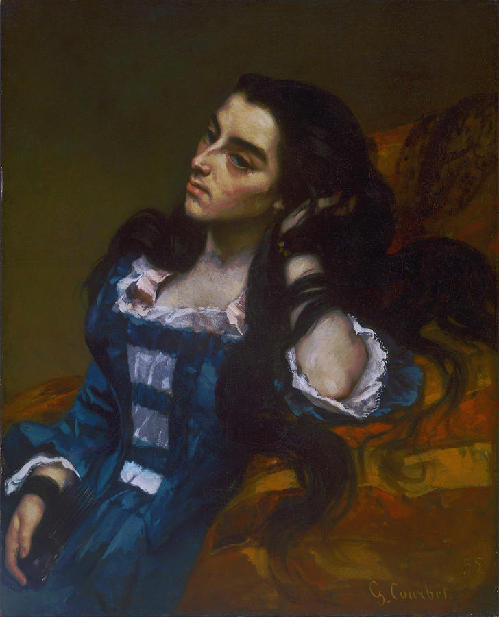 Gustave Courbet Painting - Spanish Woman by Gustave Courbet