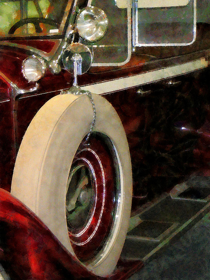 Car Photograph - Spare Tire by Susan Savad