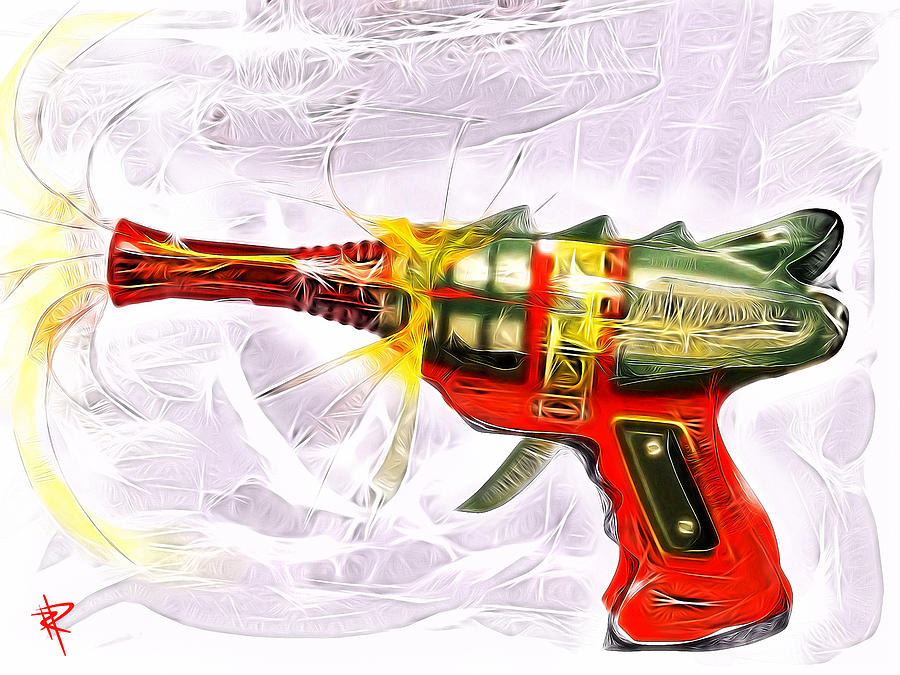 Ray Gun Mixed Media - Spark Maker by Russell Pierce