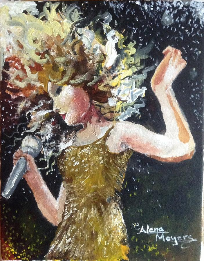 Taylor Swift Painting - Sparkle by Alana Meyers