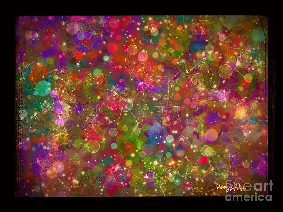Colorful Painting - Sparkle Garden by Nancy Aikins