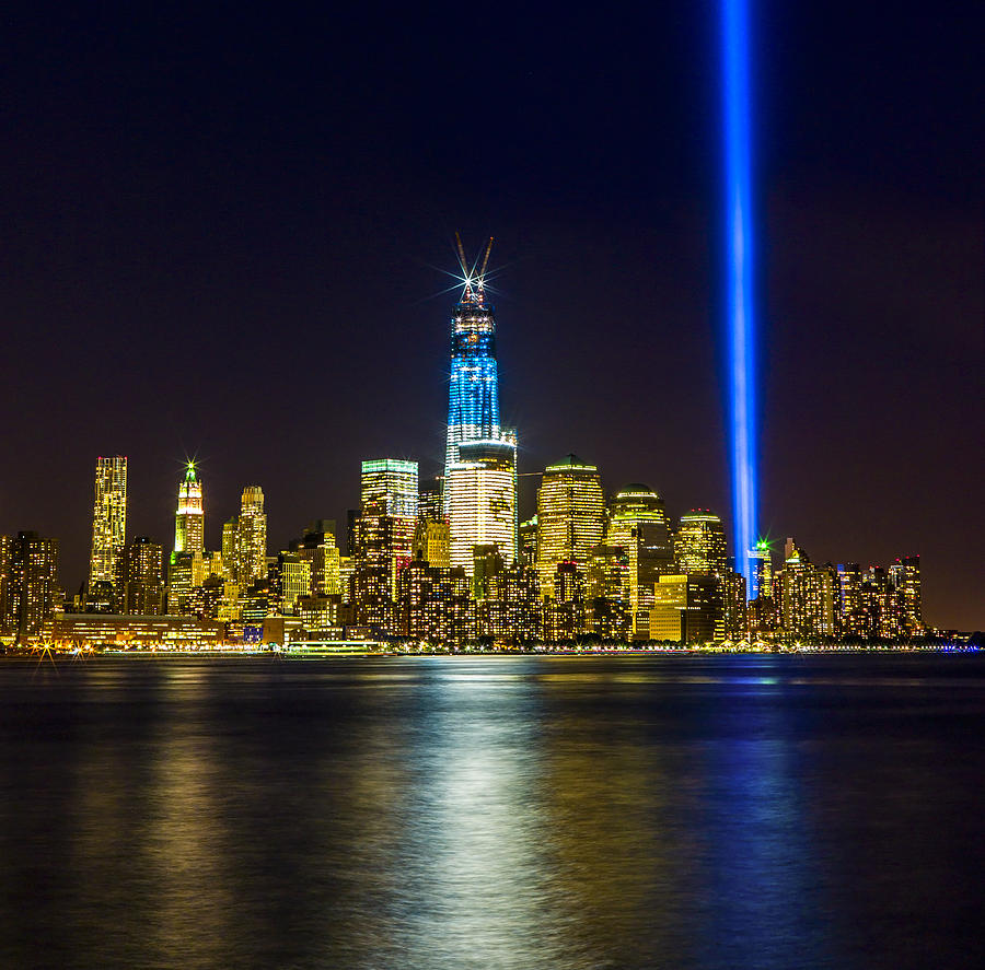 Night Photograph - Sparkling Freedom Tower by Chris Halford