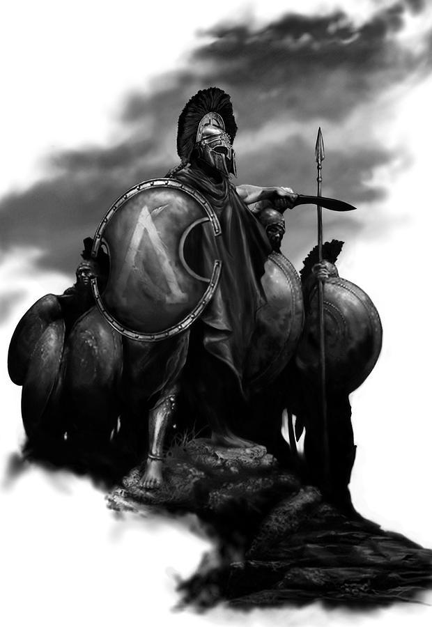 spartans painting by matt kedzierski