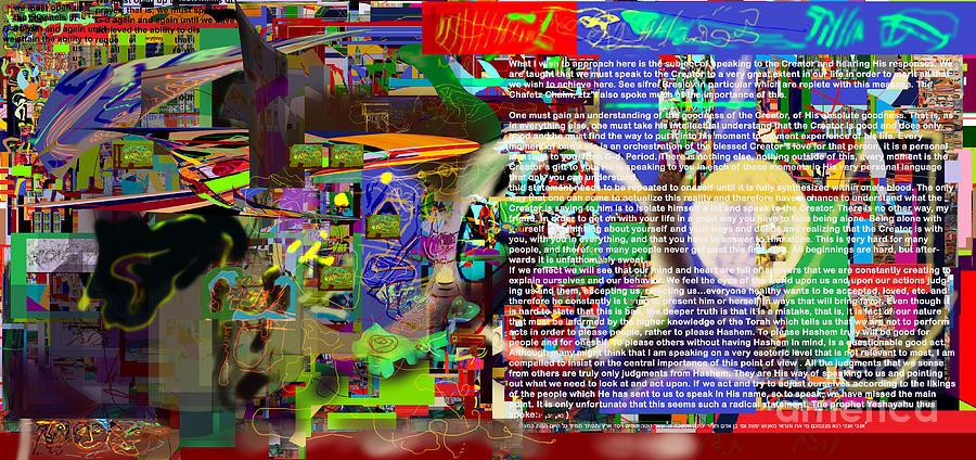Torah Digital Art - Speak To Hashem by David Baruch Wolk