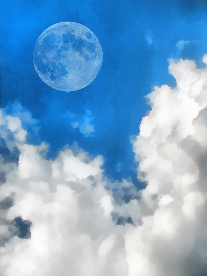 Moon Digital Art - Speak To The Sky by Wendy J St Christopher