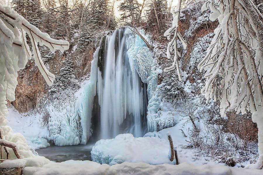 Waterfall Photograph - Spearfish Falls by Jana Thompson
