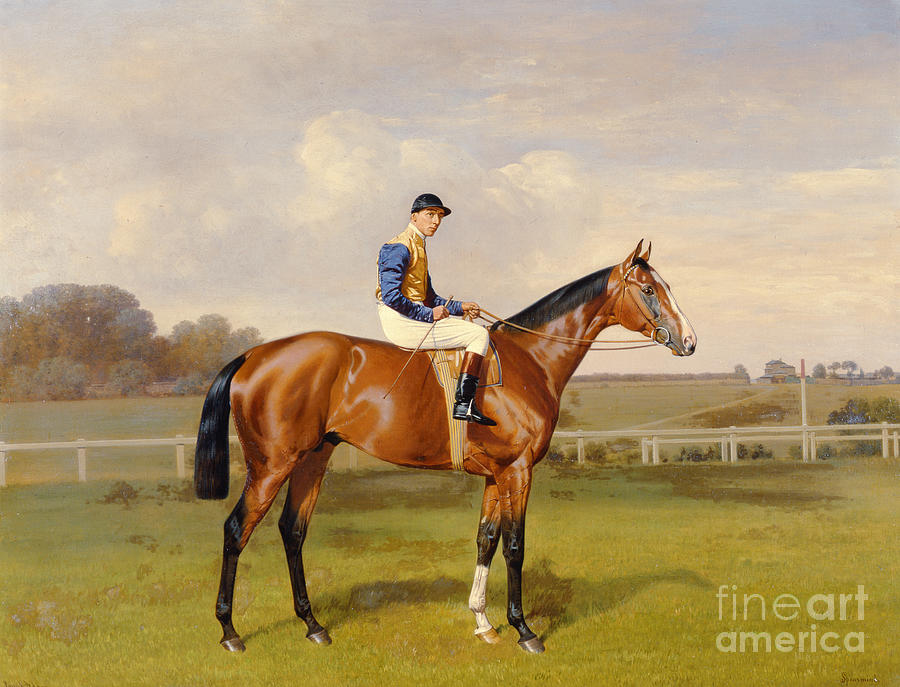 Horse Painting - Spearmint Winner Of The 1906 Derby by Emil Adam