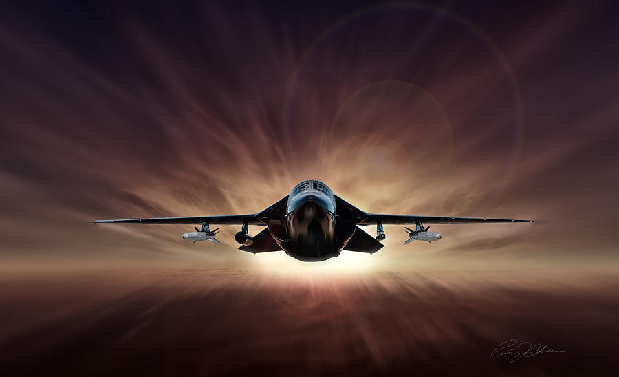 General Dynamics Digital Art - Special Delivery F-111 by Peter Chilelli