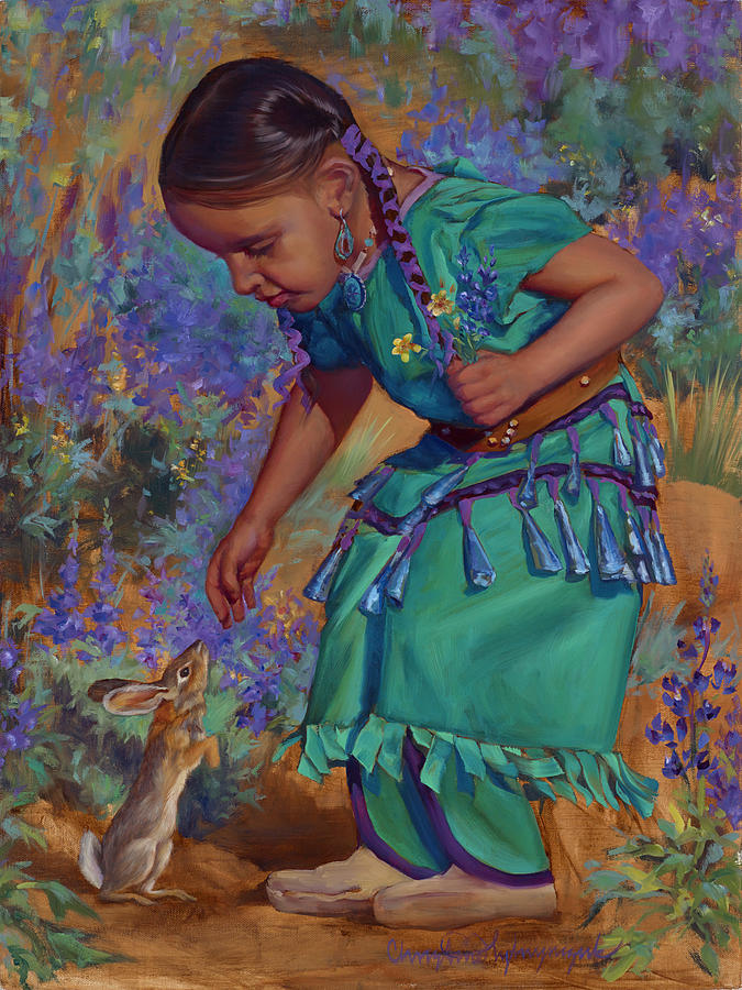 Native American Painting - Special Encounter by Christine Lytwynczuk