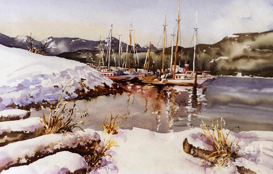 Landscape Painting - Special Winter In Vancouver by Marta Styk