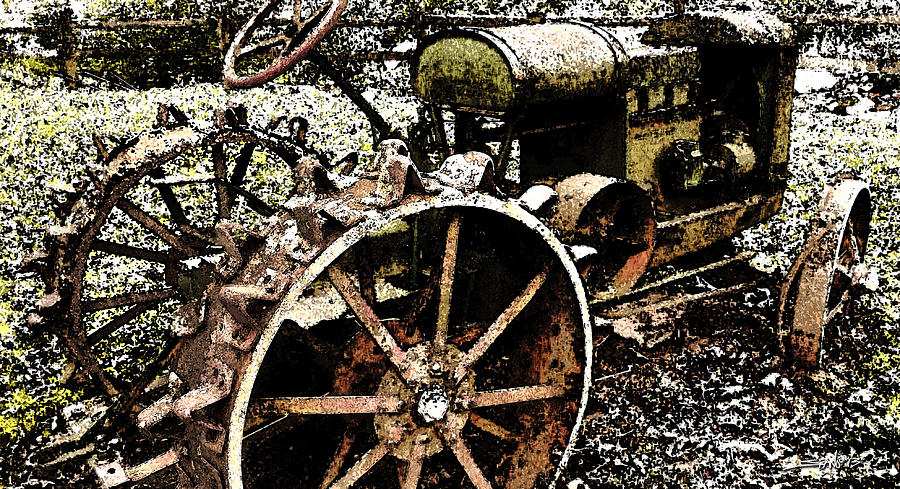 Speckled Antique Tractor by Michael Spano