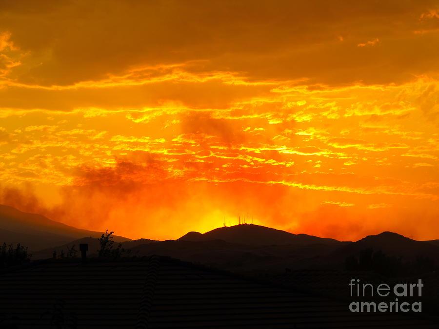 Spectacular Nevada Sunset Photograph