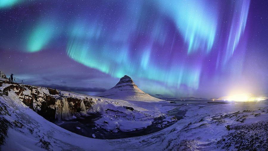 Spectacular Northern Lights Appear Over Mount Kirk Photograph by Ratnakorn Piyasirisorost