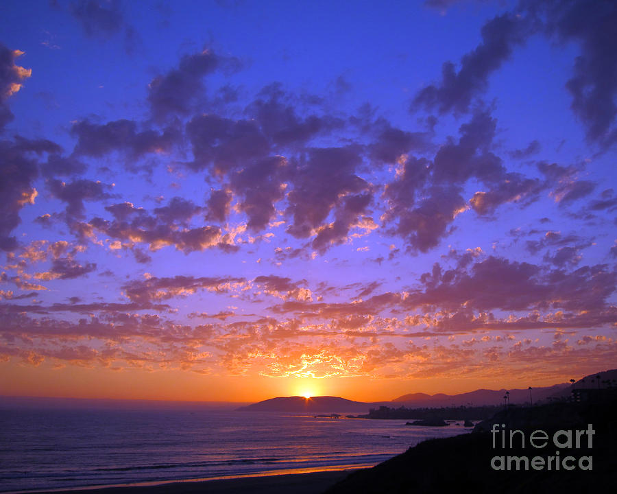 Pismo Beach Photograph - Spectacular Sunset  by Debra Thompson