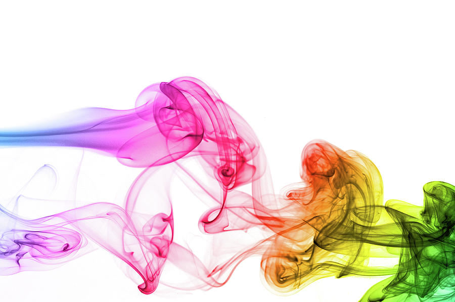 Spectrum Colors On Smoke Photograph by Assalve
