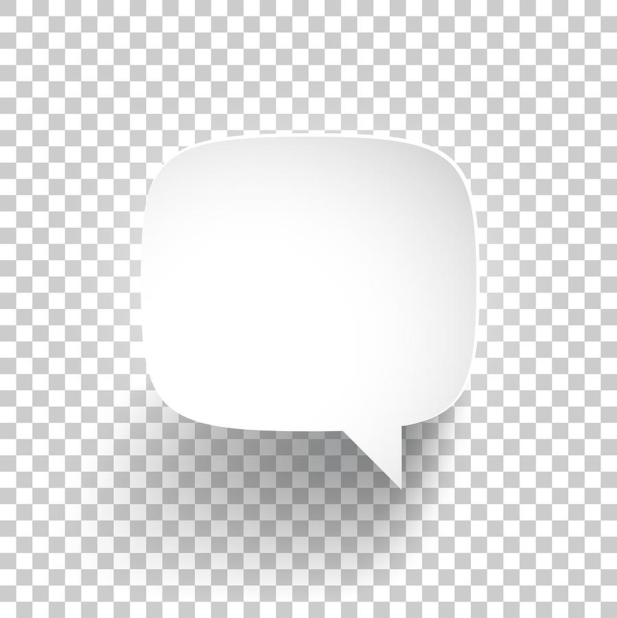 Speech Bubble on blank background Drawing by Bgblue
