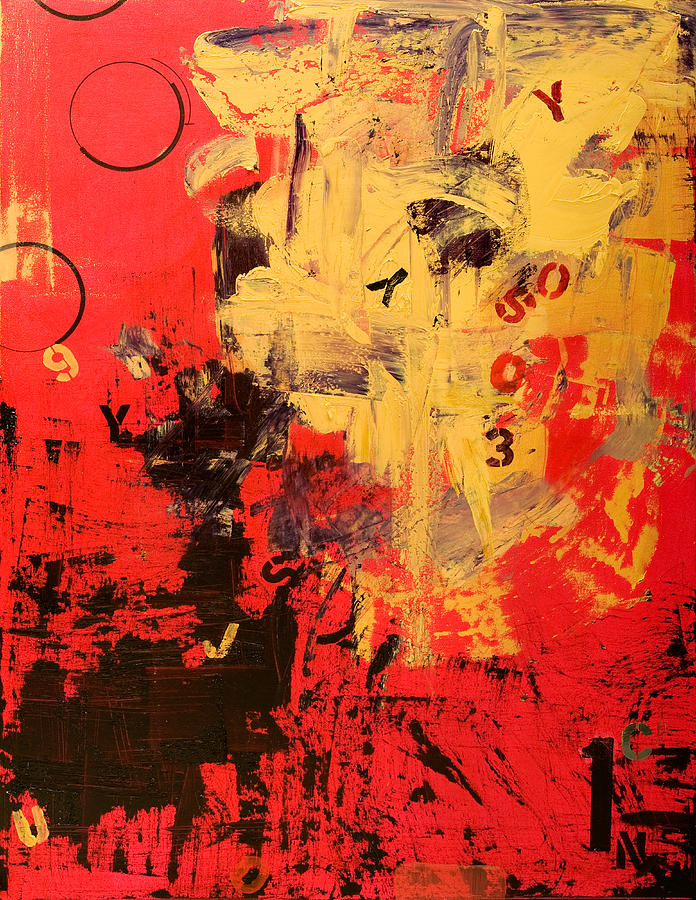 Abstract Painting - Speechless by Laura Warburton