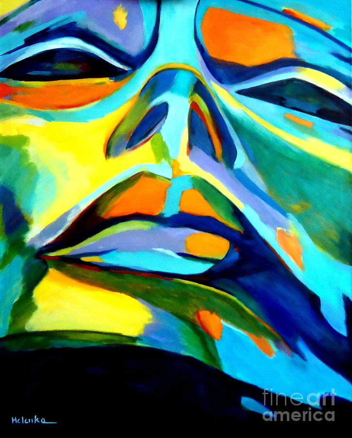 Colorful Painting - Speechless Yearning by Helena Wierzbicki