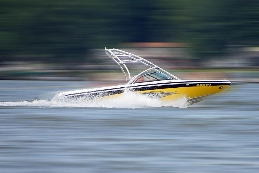 Ski Boat Photograph - Speed Boat by Thomas Fouch