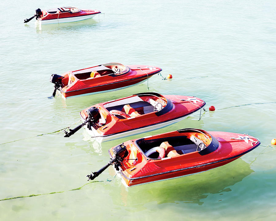 Speed Boats Photograph by Mark Leary