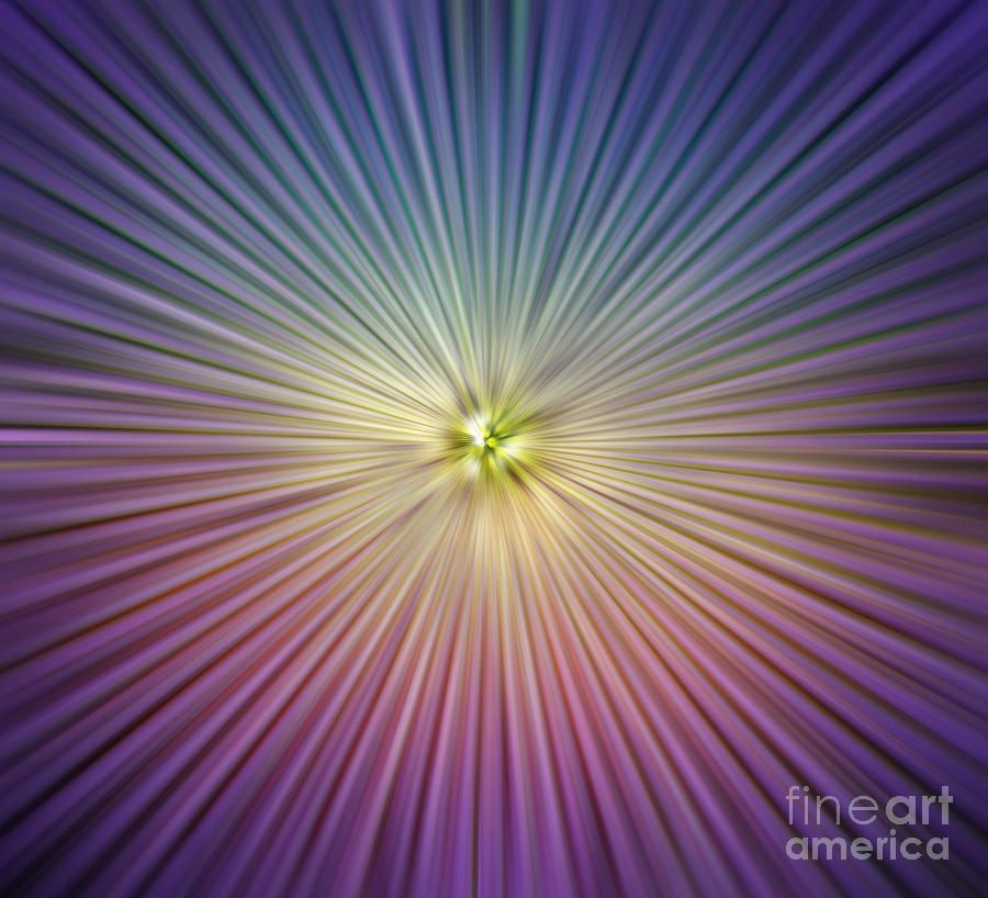 Abstract Digital Art - Speed Colors by Atiketta Sangasaeng