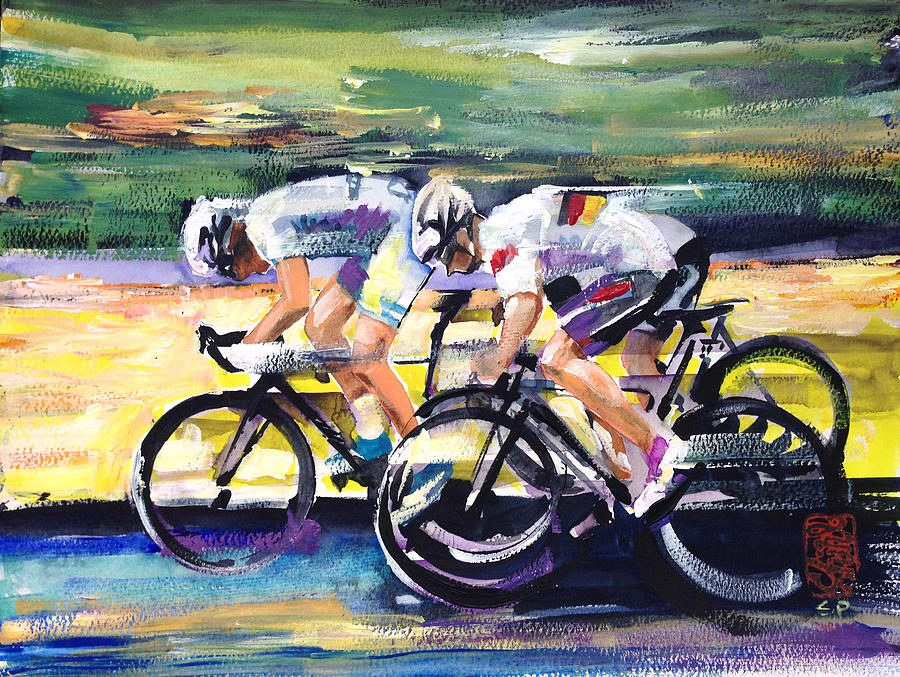 Bike Painting - Speed Of Light by Shirley  Peters