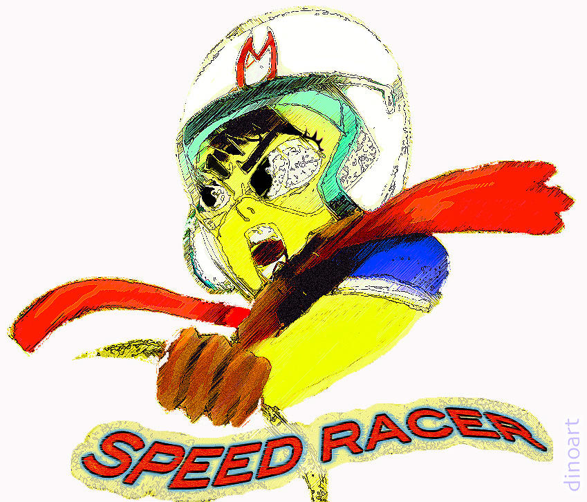 Superhero Art Pastel - Speed Racer  by Jazzboy
