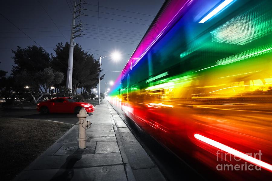 Speed Photograph - Speeding Bus Blurred Motion by Konstantin Sutyagin