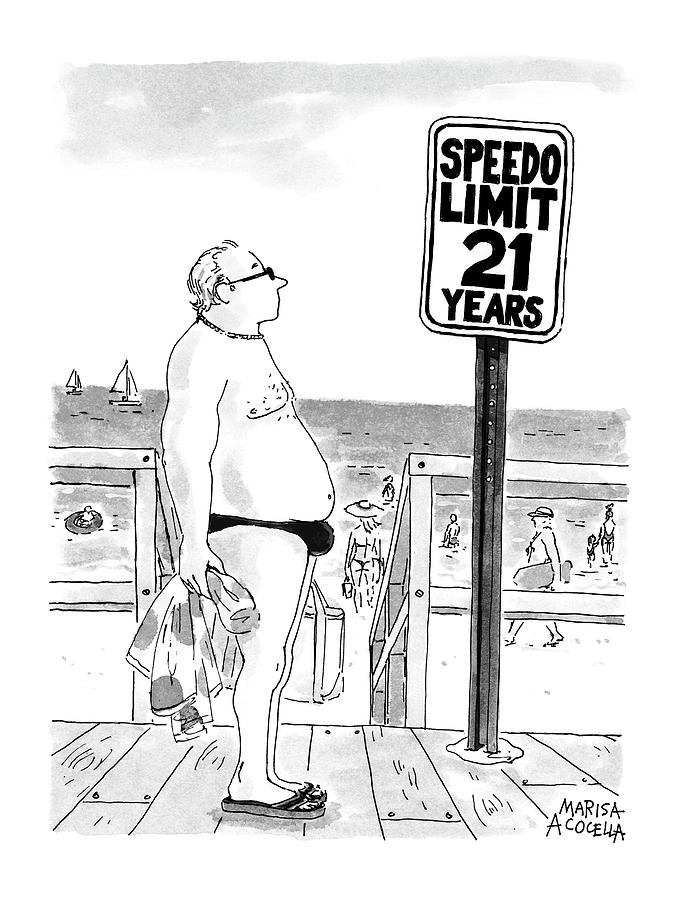 Speedo Limit  21 Years Drawing by Marisa Acocella Marchetto